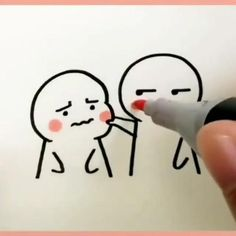 Love Birds Drawing, Cute Drawings Of Love, Cute Couple Drawings, Easy Doodles Drawings, Love Doodles, Simple Doodles, Cute Doodle Art, Doodle Art Designs, Cute Art