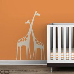 Nursery Wall Decal Mom and Baby Giraffe Baby Zoo. $44.00, via Etsy.