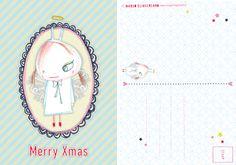 Xmas card illustrated by Margo Slingerland
