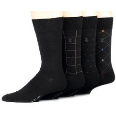 IZOD Men's 4-Pack Dressy Pattern Sock (Apparel)