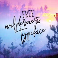 Free Font: Wilderness Typeface!