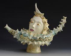 morgan contemporary glass gallery - Images for Natasha Dikareva Modern Sculpture, Sculpture Clay, Cute Teapot, Asian Design, Historical Artifacts, Pretty And Cute, Teapots, Waves, Statue