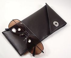 Eye Glasses Case Mens Glasses Case Faux Leather by SweetPeaEtc, $19.99