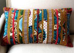 Bohemian velvet patchwork oblong pillow cover 12 x 20, from sisterbatik on etsy