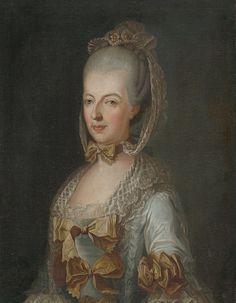Portraits de Marie-Christine de Habsbourg-Lorraine, duchesse de Saxe-Teschen, vers 1760-70 peintre inconnu de l'Europe centrale