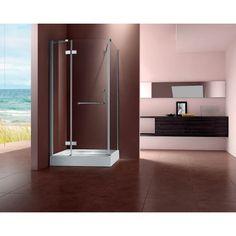 """0.32"""" Thickness Tempered Glass Pivot Shower Enclosure   LeveL8Plaza.com https://www.level8plaza.com/home-improvement/shower/shower-enclosure/Thickness-Tempered-Glass-Pivot-Shower-Enclosure"""