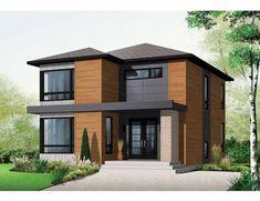 plano de casa estilo contemporaneo de 170 metros cuadrados - Maison Moderne Carre