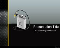 FREE Gas Can PowerPoint template is a free gasoline PPT template and slide design that you can download to make presentations on oil, black oil, petroleum PowerPoint, gasoline price, as well as other presentations on fuel, finance and economy