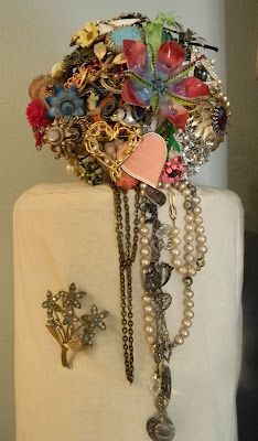 """""""Old Jewelry ~ Vintage Brooch Bouquet""""  What a great way to remember a lost loved one......:)"""