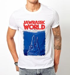 JAWRASSIC World Parody Jurrasic World Park T Shirt Tee Unisex