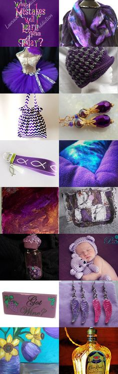Purple by Kathleen Fields on Etsy--Pinned+with+TreasuryPin.com