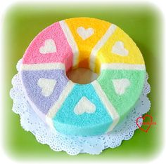 Loving Creations for You: 6 Flavour Rainbow Hearts Chiffon Cake (Updated fla...