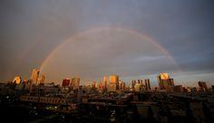 Double rainbow over Tokyo, July 18 2015.