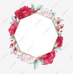 Rose Flower Wallpaper, Flower Backgrounds, Flower Circle, Flower Frame, Flower Invitation, Floral Wedding Invitations, Wedding Cards Images, Branches Wedding, Watercolor Flower Wreath