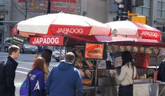Japadog's hot dogs were combined with Japanese toppings and flavours; their famous Terimayo is a hotdog topped with Teriyaki sauce, mayo and seaweed. Japadog quickly became a local sensation and an icon of Vancouver fusion cuisine.