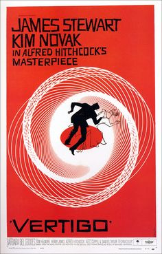 Vertigo, 1958 (Poster by Saul Bass)