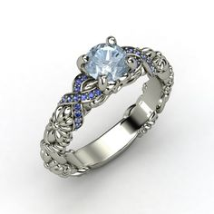 The Knotted Bouquet Ring #customizable #jewelry #aquamarine #sapphire #silver #ring