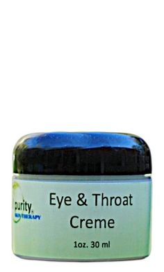 Eye & Throat Creme - We have created the lightest creme in the world for the most delicate skin areas. This creme will also firm and tone these areas without weighing the skin down. Order Today at www.realpurity.com