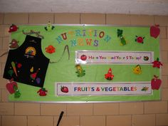 These next three were in the school Kitchen Bulletin Boards, Cafeteria Bulletin Boards, Back To School Bulletin Boards, Nutrition Education, Kids Nutrition, Nutrition Chart, Nutrition Month, Vegetable Nutrition, Holistic Nutrition