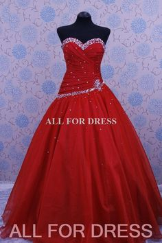red sparkly prom dress