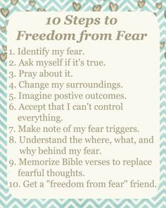 10 Steps to Freedom from Fear - Free Download
