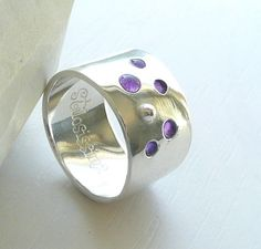 Bubble Ring Sterling Silver and Resin choose your por Stilosissima