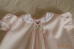Hand Smocked Little Lamb Daygown by TheSmockingGarden