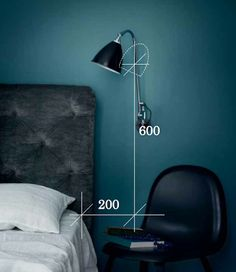 Best place reading lamp bed