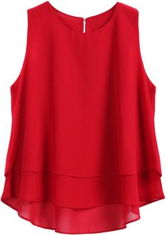 SheIn offers Red Round Neck Loose Dip Hem Chiffon Tank Top & more to fit your fashionable needs.To find out about the Red Round Neck Loose Dip Hem Chiffon Tank Top at SHEIN, part of our latest Tank Tops & Camis ready to shop online today!