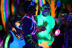 electric run is a 5k coming up in Portland and Seattle in July and August that has synchronized music with electric beats. Wear neon colors and glow!