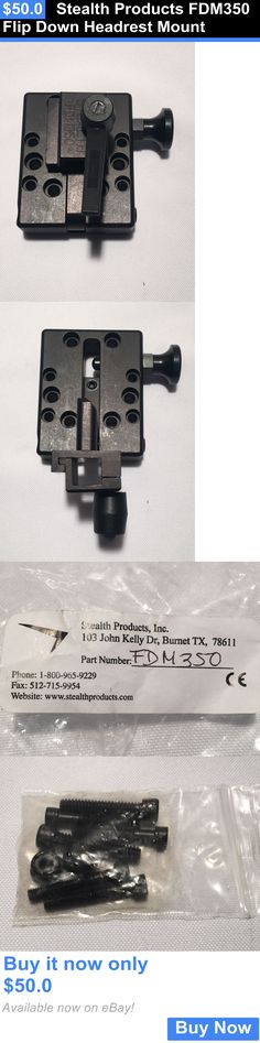 Wheelchair Parts: Stealth Products Fdm350 Flip Down Headrest Mount BUY IT NOW ONLY: $50.0