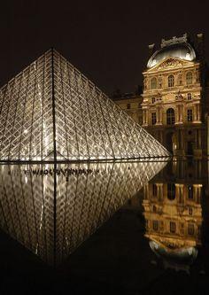 Paris, France (Le Louvre)! by the architect Ieoh Ming Pei,
