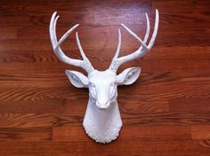 DIY faux deer head. Finished Deer Head - Front Shot by emily snuffer, via Flickr