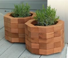 Octagonal Red Cedar Planter Box