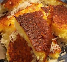 tadeeg! the best part of iranian rice!  My mom made it with potatos at the bottom!!! yumm