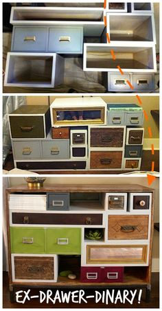 Upcycle: Old drawer media console!