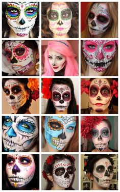 27 Ideas for makeup halloween catrina hair Halloween 2015, Holidays Halloween, Halloween Make Up, Halloween Decorations, Halloween Costumes, Vintage Halloween, Sugar Skull Halloween Costume, Cool Halloween Makeup, Costume Makeup