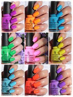 China Glaze Electric Nights China Glaze, Fingers, My Nails, Electric, Nail Polish, Beauty, Products, Nail Polishes, Manicure