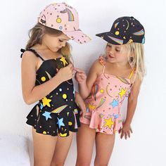 mini rodini - hipkin.com.au Little Girl Fashion, Kids Fashion, Fashionista Kids, Kids Swimwear, Swimsuits, Cool Kids Clothes, Hipster Babies, Girls Wardrobe, Kids Hats