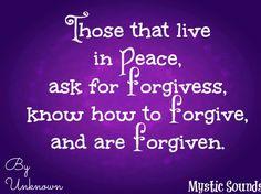 Forgiveness Quote via www.Facebook.com/MysticSounds