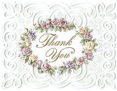Carol Wilson: Rose Wreath Thank You Notes