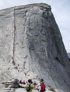 travelhighlights: Climbing the Half Dome by David Gunderson Yosemite National Park, California, USA Via fuckyeahprettyplaces The Places Youll Go, Places To See, Yosemite Camping, Mountain Trails, Yosemite Valley, California Travel, Yosemite California, Yosemite National Park, Adventure Is Out There