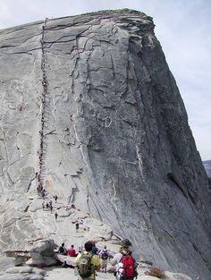 Climb the Half Dome at Yosemite #california