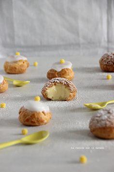 choux144 Petits choux (choux craquelins au lemon curd & petits choux glacés à la vanille)