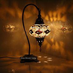 Turkish Moroccan Mosaic Lamp Light Desk Table Handmade Large Globe UK SELLER