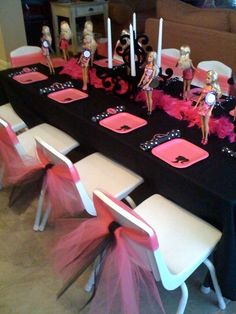 Tulle on the chairs