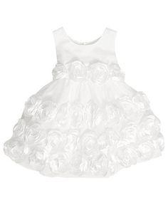 Bonnie Baby Dress, Baby Girls Matte Satin Flower Girl Dress - Kids Baby Girl (0-24 months) - Macy's