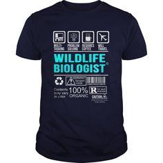 WILDLIFE BIOLOGIST T-Shirts, Hoodies. BUY IT NOW ==► https://www.sunfrog.com/LifeStyle/WILDLIFE-BIOLOGIST-100498827-Navy-Blue-Guys.html?id=41382