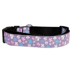 Mirage Pet Products Butterfly Nylon Ribbon Collar, Medium, Lavender * To view further, visit now : Collars for dogs