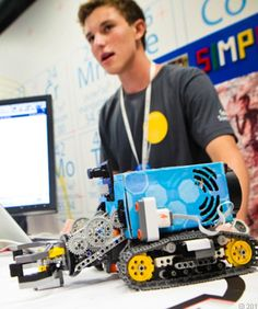 English-Speaking Robots  At just 14 years old, South African Luke Taylor submitted a project to Google's Science Fair that caught every judge's attention. Taylor created a software program that translates the English language into a code that robots can more easily understand and execute, allowing those who haven't been trained in robotics to perform a variety of functions.